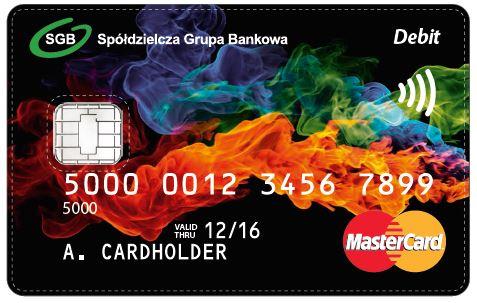Karta płatnicza debetowa Bank SGB MasterCard PayPass zbliżeniowa