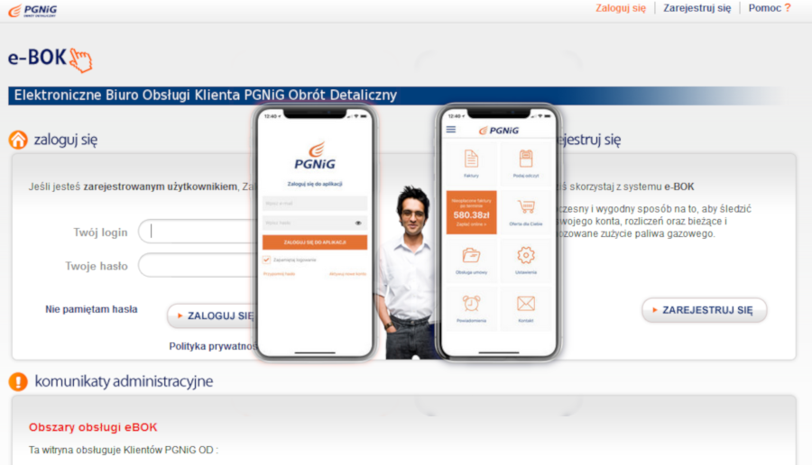 PGNiG aplikacja MBOK i eBOK