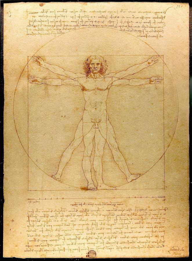 człowiek wirtuwiański Leonardo Da Vinci