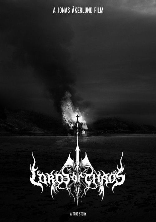 Film Lords of Chaos plakat reklamowy